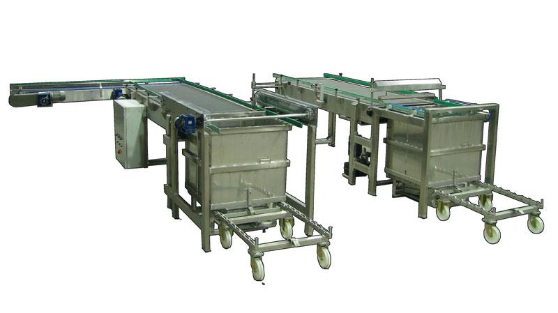Magnetic basket Loader and Unloader by pushing